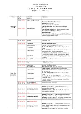 çalıştay programı - İslami İlimler Fakültesi