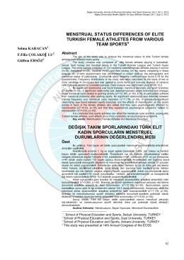 Antrenman Makale - Niğde Üniversitesi