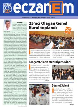 Eczanem Bülten 83 - İstanbul Ecza Koop
