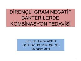 Çoklu İlaç Dirençli Gram Negatif Baktelerilerde Kombine