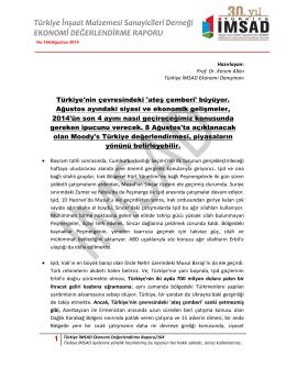 1 Türkiye İMSAD Ekonomi Değerlendirme Raporu/164