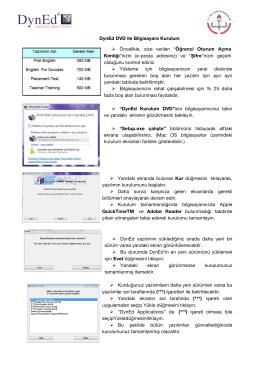 Kurulum Klavuzu - Testanaliz.net