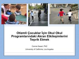Otizm Spektrum Bozukluğu Olan Çocukların Okul Programında