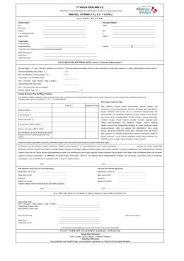 Kira Sertifikası Talep Formu - Türkiye Finans Varlık Kiralama