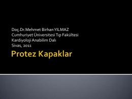Doç.Dr.Mehmet Birhan YILMAZ Cumhuriyet Üniversitesi Tıp