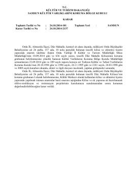 Altınordu - Düz Mahalle - 26 Pafta - kültür ve tabiat varlıklarını