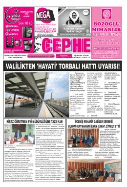 20.12.2014 Tarihli Cephe Gazetesi