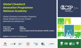 6 Ağustos Ankara - Turkey Cleantech Open Accelerator