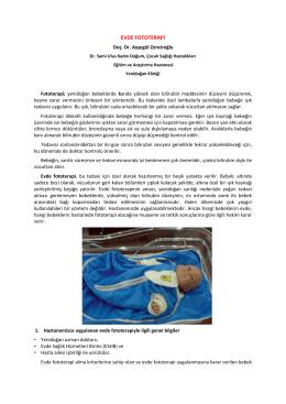 EVDE FOTOTERAPİ - Dr. Sami Ulus Eğitim ve Araştırma Hastanesi