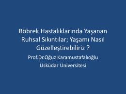 Prof. Dr. Oğuz KARAMUSTAFALIOĞLU – Üsküdar Üniversitesi