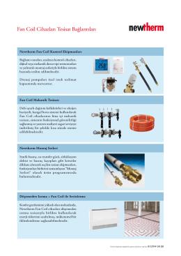 Fan Coil Cihazları Tesisat Bağlantıları