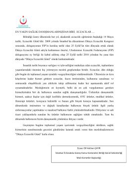 Dünya Eczacılık Günü - İstanbul Anadolu Güney Kamu Hastaneleri