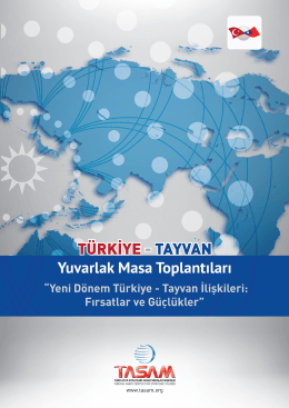 TÜRKİYE - TAYVAN YUVARLAK MASA TOPLANTISI - 1