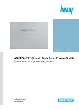 AQUAPANEL ® Çimento Bazlı Tavan Plakası SkyLite Ürün Föyü