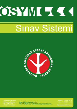 2015 YGS-LYS Sınav Sistemi