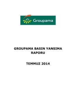 groupama basın yansıma raporu temmuz 2014
