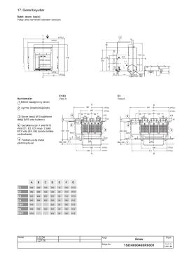 Emax Air Circuit Breakers - Genel Boyutlar