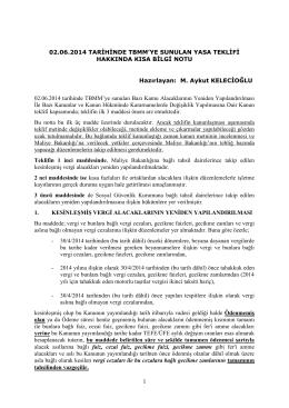 yeni af düzenlemesi - M. Aykut KELECİOĞLU