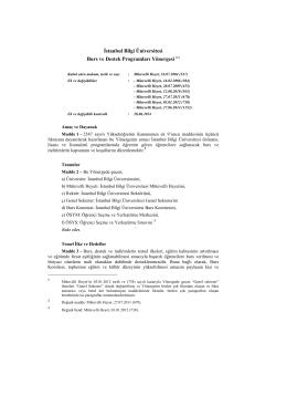 İstanbul Bilgi Üniversitesi Burs ve Destek Programları Yönergesi (1)