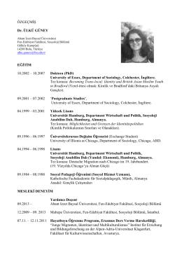 GUNEY-CV-TR-08.2014-1 - Sosyoloji Bölümü