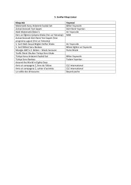 5. Sınıflar - Özel Tevfik Fikret Okulları