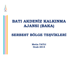 serbest bölge teşvikleri (ocak 2014)