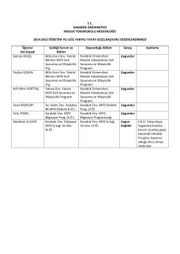 tc karabük üniversitesi meslek yüksekokulu müdürlüğü 2014