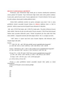 Reçete Yazım-Kuralları PDF