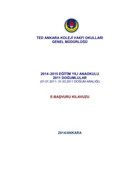 2011 Doğumlular (01.01.2011-31.03.2011 doğum aralığı)