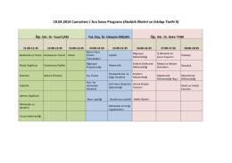 19.04.2014 Cumartesi / Ara Sınav Programı (Atatürk İlkeleri ve