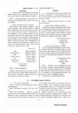 Meclisi Mebusan t: 64 7 Mart 1334 (1918) C : 1 Mazbatalar 1