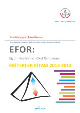 kriterler kitabı 2013-2014 - Edirne Milli Eğitim Müdürlüğü