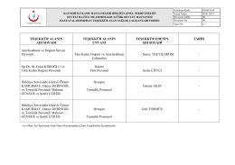 Mart - Develi Hatice Muammer Kocatürk Devlet Hastanesi