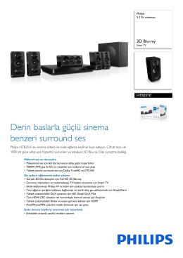 HTB3510/12 Philips 5.1 Ev sineması