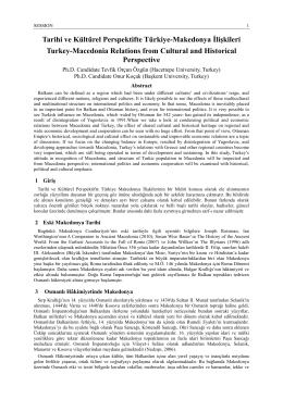 Tarihi ve Kültürel Perspektifte Türkiye