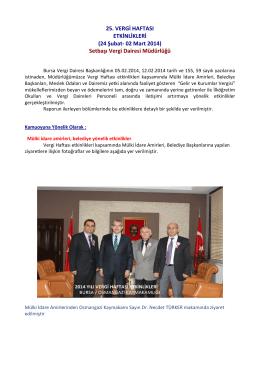 Setbaşı Vergi Dairesi Müdürlüğü - Bursa Vergi Dairesi Başkanlığı