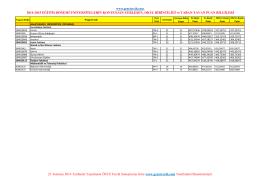 galatasaray üniversitesi 2014-2015 4 yıllık taban puan, kontenjan