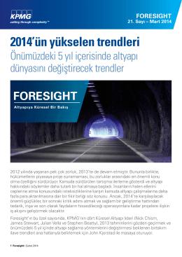 Foresight, Altyapıya Küresel Bir Bakış - Mart 2014 (PDF