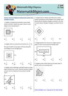 Geometri bilgilerini kullanarak bir olayın olma olasılığını hesaplar. 1