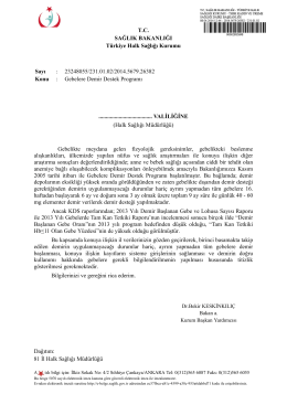 Gebelere Demir Destek Programı konulu THSK 08.04.2014 tarihli