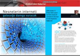 Endüstriden Haberler- Nesnelerin İnterneti geleceğe damga vuracak