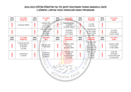 2014-2015 eğitim öğretim yılı ito şehit süleyman turan anadolu lisesi