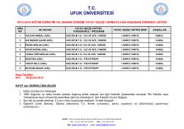 T.C. UFUK ÜNİVERSİTESİ