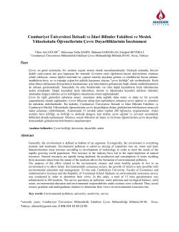 Cumhuriyet Üniversitesi İktisadi Ve İdari Bilimler