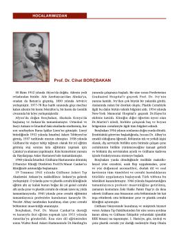 Prof. Dr. Cihat BORÇBAKAN
