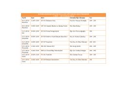 2014-15 Güz Dönemi İletişim Bilimleri Bölümü Ara Sınav Programı