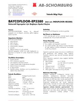 BAYCOFLOOR-EP3380 (Eski adı: INDUFLOOR - ab