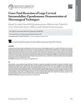 Gross Total Resection of Large Cervical Intramedullary Ependymoma