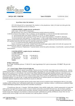 08.05.2014 2014 /4 dokuz aylık faaliyet raporu