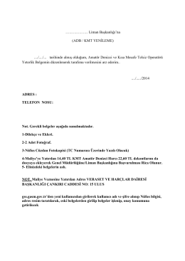 ADB-KMT Yenileme Dilekçe Örneği